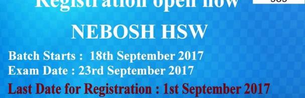 Nebosh HSW Training in Hyderabad