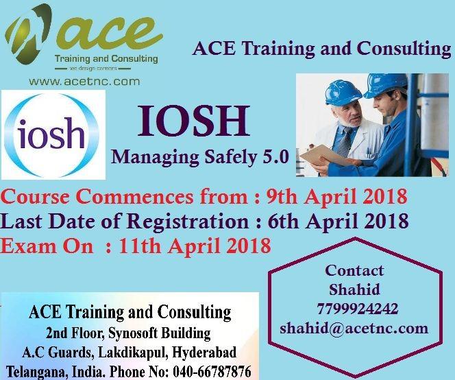 IOSH Managing Safely Training in Hyderabad