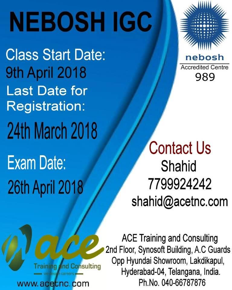 Nebosh IGC Training In Hyderabad Course