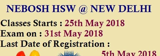 Nebosh HSW Training in Delhi