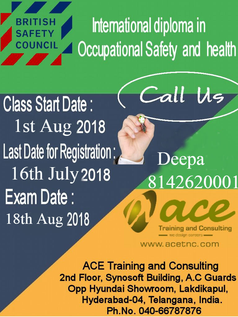 bsc idiposh level 6 training in hyderabad aug 2018