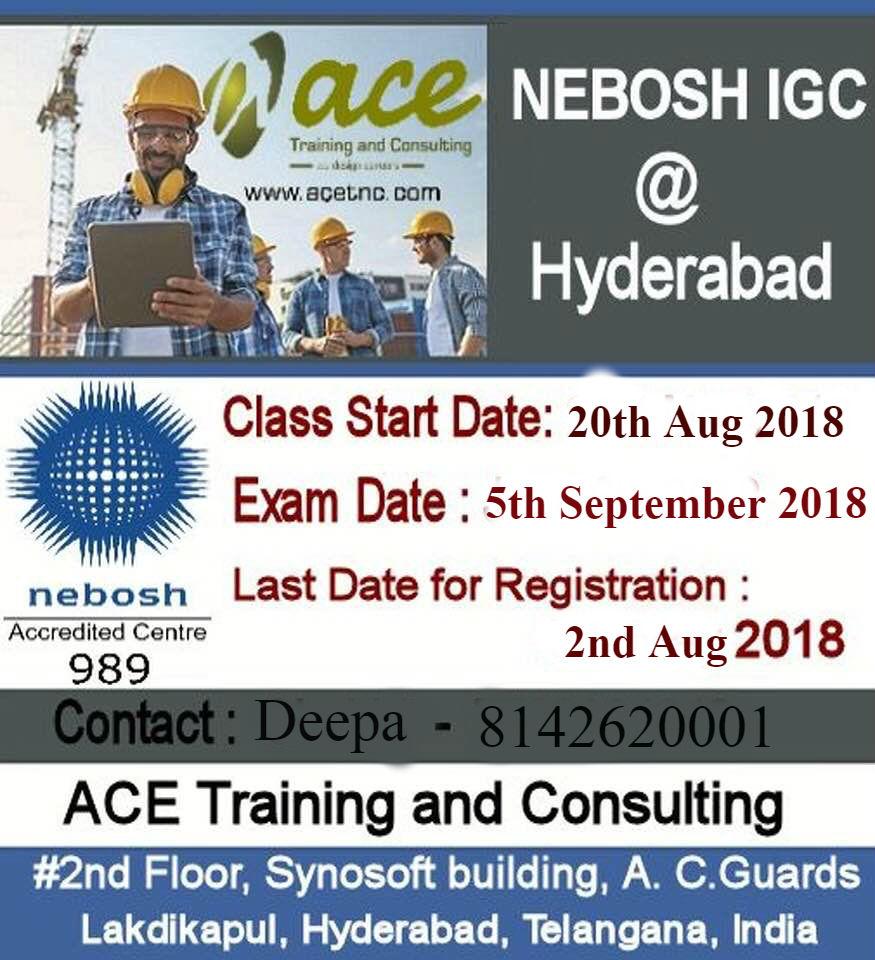 nebosh igc training in hyderabad