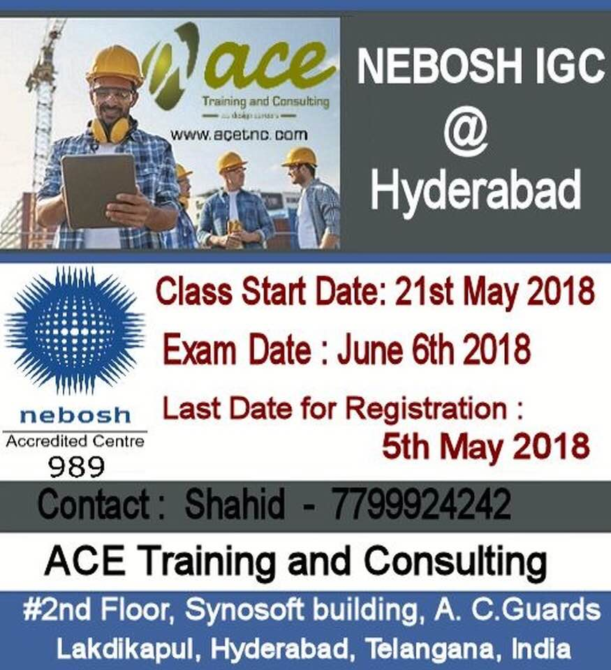 Nebosh igc training in hyderabad.☎ +91-7799924242 UAE ☎+971 508191887