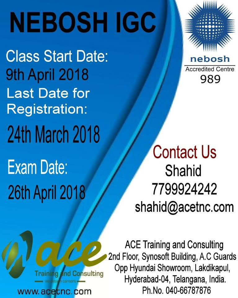 Nebosh IGC Training in Hyderabad -Nebosh IGC Course in Hyderabad