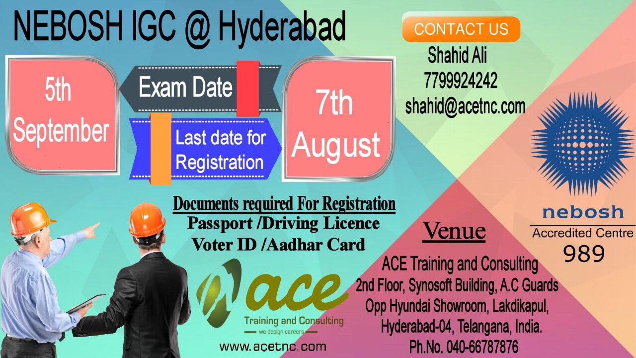 Nebosh IGC Training in Hyderabad