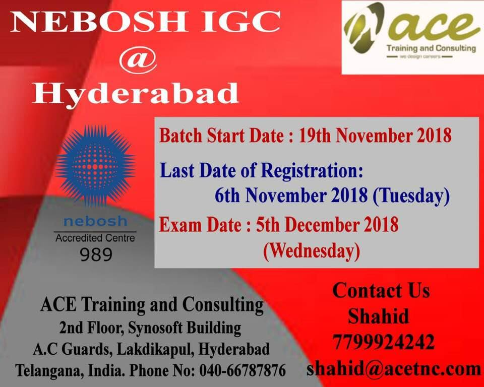 Nebosh IGC Training in hyderabad.+91-7799924242