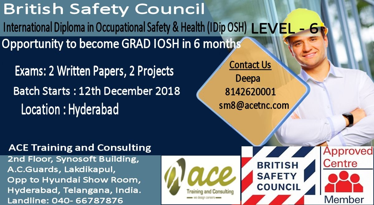 Bsc Idiposh level 6 training in Hyderabad.+91-8142620001