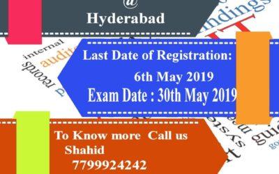 Nebosh Hsw Training in Hyderabad (May-2019)