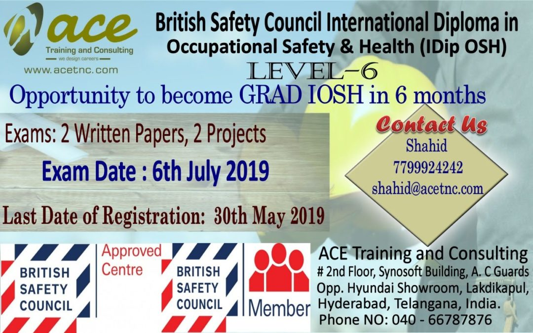 British Safety Council International Diploma In Occupation Safety & Health (IDip OSH)