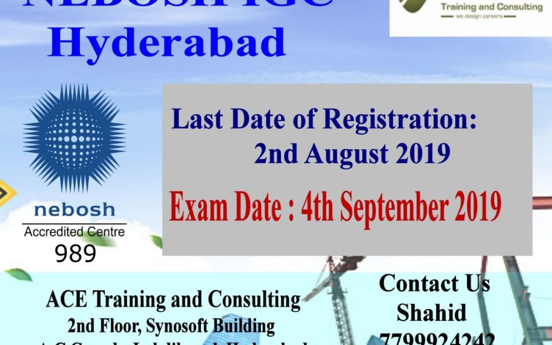 Nebosh IGC Training in Hyderabad (Sep 2019)