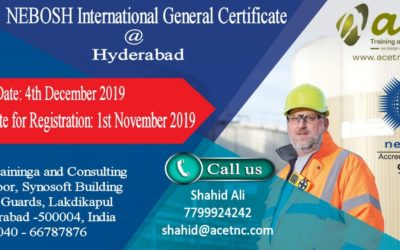 Nebosh International General certificate at Hyderabad