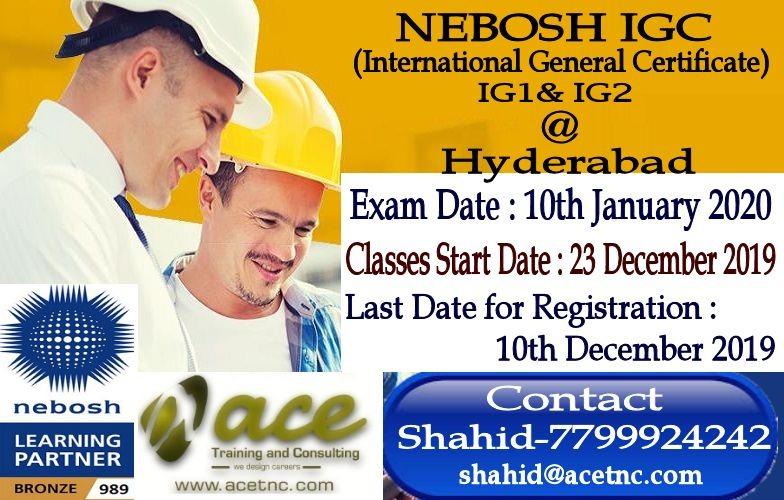 Nebosh IGC ( IG1 & IG2 )