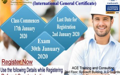 Nebosh International General Certificate | In Hyderabad | Date : 17th January 2020
