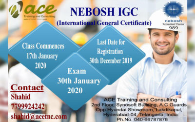Nebosh International General Certificate | In Hyderabad | Date : 17th January 2020